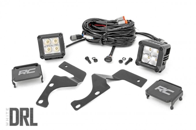 Toyota 2-inch LED Lower Windshield Ditch Kit (14-19 4-Runner | Chrome-Series w/ Cool White DRL)