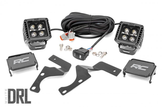 Toyota 2-inch LED Lower Windshield Ditch Kit (14-19 4-Runner | Black-Series w/ Cool White DRL)