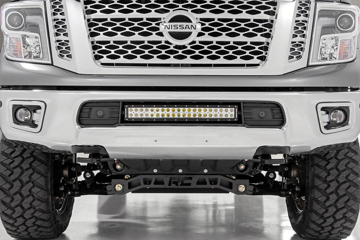 Jeep Yj Grill Guard 20-inch Dual Row, Chrome Series, Cree LED Bumper Kit for ...